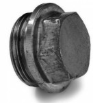 Bouchon de vidange tête hexagonale forme C DIN 7604 M8 X 1.00 acier cl.5.8 phosphaté