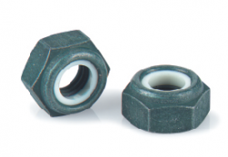 Ecrou hexagonal bas autofreiné TA10BE (anneau non métallique) acier 1100 MPa NYLSTOP AERO®