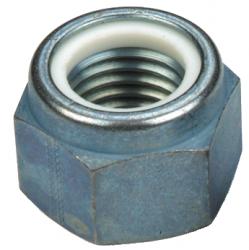 Ecrou hexagonal autofreiné (anneau non métallique) Type P Hauteur normale NFE 25409 NYLSTOP® acier