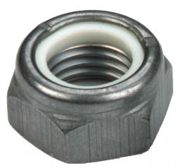 Ecrou hexagonal bas autofreiné (anneau non métallique) Type T NFE 25412 NYLSTOP® acier