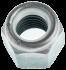 Ecrou hexagonal autofreiné (anneau non métallique) au pas fin M5 X 0.75 acier zingué blanc NYLSTOP®