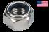 Ecrou hexagonal  autofreiné (anneau non metallique) 5/16NC - 18filets acier zingué blanc Loc-King