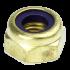 Ecrou hexagonal autofreiné (anneau non metallique)  M4 X 0.70 LAITON NYLSTOP®
