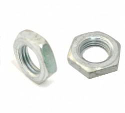 Ecrou bas hexagonal Hm DIN 439 M10 X 1.50 acier zingué blanc