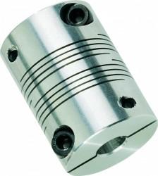 Accouplement flexible renforcé 8x8x30x45 aluminium