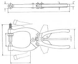 Pince de bridage SA 455-2