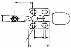 Sauterelle horizontale tirée HH