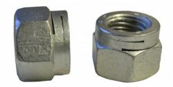 Ecrou hexagonal autofreiné tout métal, à double fente NFE 25411 M18 X 2.50 inox A4L80 Stanal