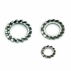 Rondelle à dents extérieures chevauchantes «forme plane» DIN 6798A 8mm inox A4