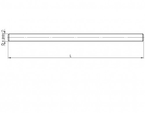 galvanisé FORME A 1000 mm de long M 24-1 st Filetage tige DIN 976-1 8.8 Acier galv