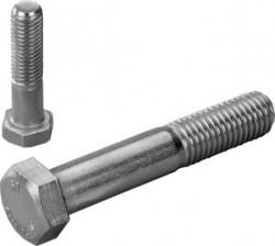 Vis tête hexagonale partiellement filetée ISO 4014 M8 X 1.25 X 60mm inox 316L80 BUMAX 88®