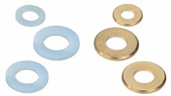 Rondelles plates laiton - nylon