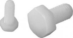 Vis tête hexagonale entièrement filetée DIN 933 M5 X 0.80 X 30mm nylon