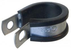 Collier de fixation pour tuyaux largeur 13mm Ø12,7 à 14,3mm inox 316