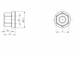Ecrou hexagonal à embase crantée DIN 6923 M8 X 1.25 acier cl.8 zingué blanc