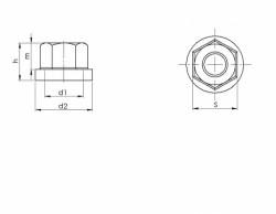 hexagonal à embase lisse DIN 6923 acier classe 8 zingué blanc