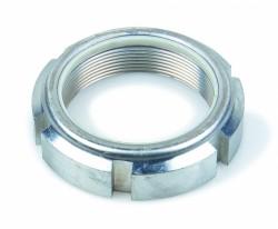 Ecrou à encoches autofreiné série renforcée type CF NFE 22306 M40 X 1.50 acier demi-dur NYLSTOP®