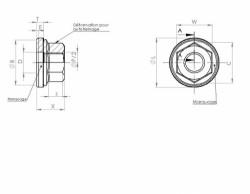Ecrou hexagonal autofreiné à embase tournante JRH80035M acier 1100 MPa cadmiage 5um SIMLOC