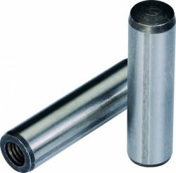 Goupille cylindrique rectifiée  trempée à trou taraudé DIN 7979 D   6mm X 20mm acier