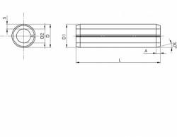 Goupille cylindrique creuse, dite «élastique» série épaisse DIN 1481 16mm X 50mm acier