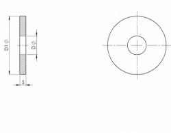Rondelle plate série très large LL NFE 25513 acier 100HV zingué bichromaté