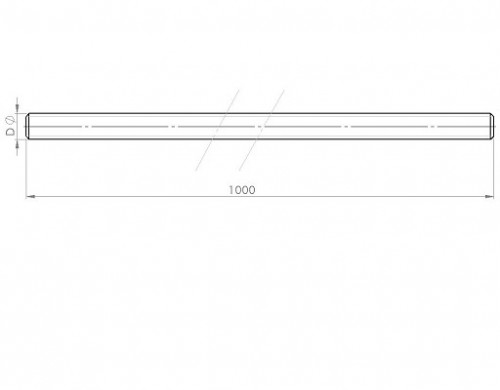 M8 acier gauche//droite Fileté Tiges Brüniert-différentes tailles-y0782//02