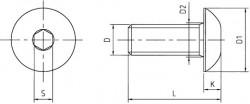 tête bombée ISO 7380