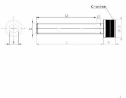 tête cylindrique série 1936 ANSI B.18.3 - 1954 Grade 5 filetage américain NC - zingué bichromaté