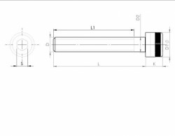 tête cylindrique série 1936 BS 2470 ASTM A574 filetages américains UNC-UNF