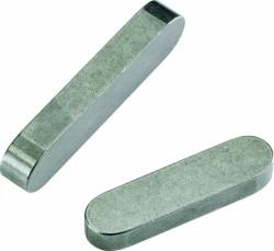 Clavette parallèle à bouts ronds DIN 6885 A 6mm X 20mm X 6mm acier C45K