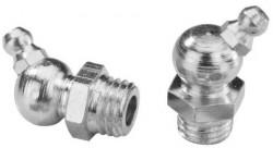 Graisseur genre «hydraulic» 45° DIN 71412 M6 X 1.00 acier XC10 zingué blanc