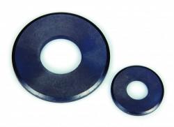Rondelle plate_ série large 'L' NFE 25514 6mm acier demi-dur zingué noir