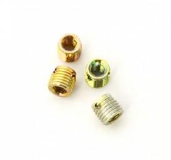 Douille autotaraudeuse 307 à 6 pans creux M4 X 0.70 acier zingué chromaté jaune ENSAT®