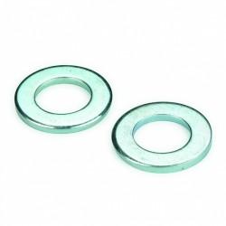 Rondelle plate DIN 125 6mm acier zingué blanc