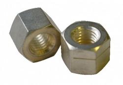 Ecrou de sécurité hexagonal autofreiné entièrement métallique avec fente H130 inox A2