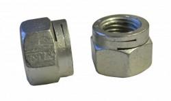 Ecrou hexagonal autofreiné tout métal à double fente NFE 25411 M6 X 1.00 acier cl.8 zinc chrome 3 150hBS